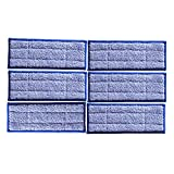 Toorand 6 Packs Replacement Washable Reusable Black Blue Wet Mopping for iRobot Braava Jet 240 (blue, 6)