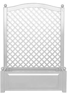 Beliebt Kunststoff Pflanzkasten mit Spalier weiß B100 x H140 x T43 cm MD32