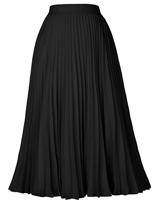 Retro Skirts: Vintage, Pencil, Circle, & Plus Sizes Kate Kasin Womens High Waist Pleated A-Line Swing Skirt KK659 $29.99 AT vintagedancer.com