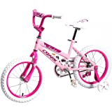 "16"" Children BMX Girls Kids Bike Bicycle With Training Wheels Steel Frame 16G"