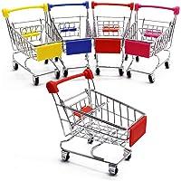 Zddaoole 5 Pcs Mini Shopping Cart,Mini Supermarket Handcart,Shopping Cart Shopping Utility Cart Mode Desk Storage Toy…