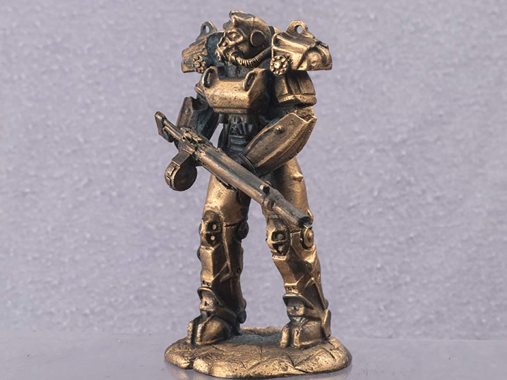 1\32 scale power armor Model 54mm Gift for man cosplay Copper figur exoskeleton suit Сollection miniatur Home decor Table centerpiece