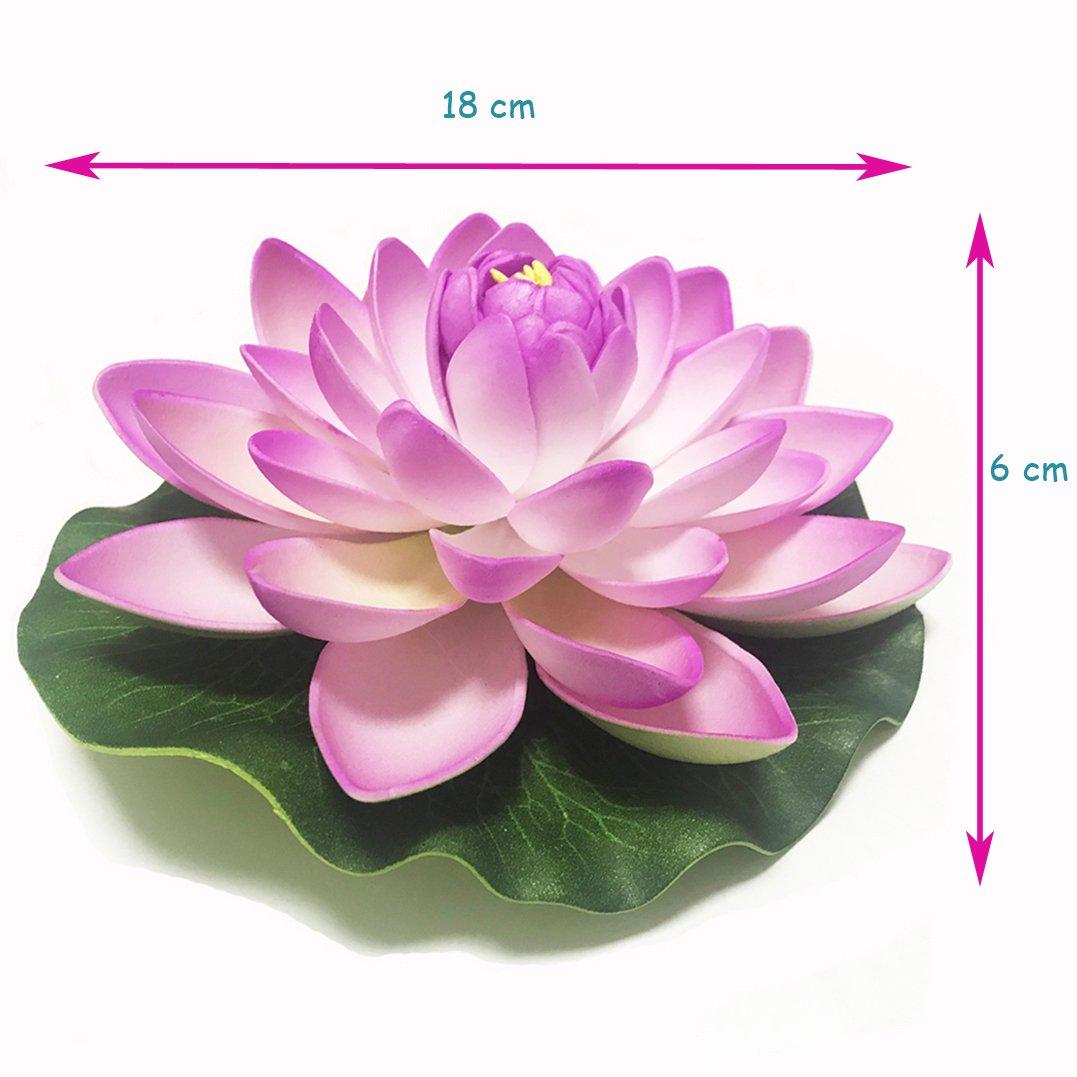 Amazon Emmix Artificial Water Lilies Foam Floating Lotus Flower
