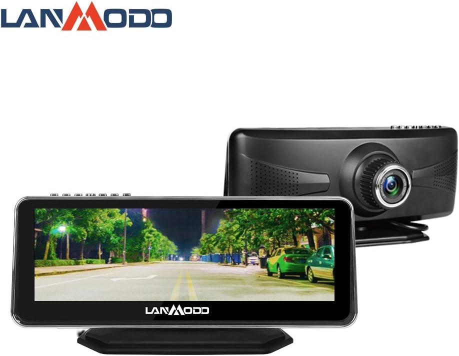 LANMODO Car Night Vision Camera,Waterproof 8.2″ HD Screen 1080P Full-Color Image at..