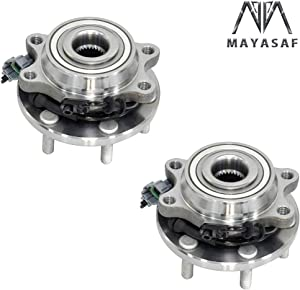 MAYASAF 515065x2 [4WD 4X4 Models Only] Front Wheel Hub Bearing Assembly 6 Lugs w/ABS Fit 2005-15 NISSAN Frontier/Xterra, 2005-12 Pathfinder, 2009-12 SUZUKI Equator (4WD Only, 2 Pack)