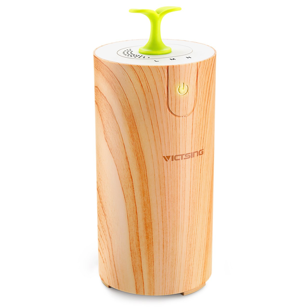 VicTsing Car Oil Diffuser, [ Wood Grain ] Essential Waterless Oil Diffuser, USB Car Aroma Diffuser for Car, Small Bedroom, Pets room, Bathroom, Office and Home