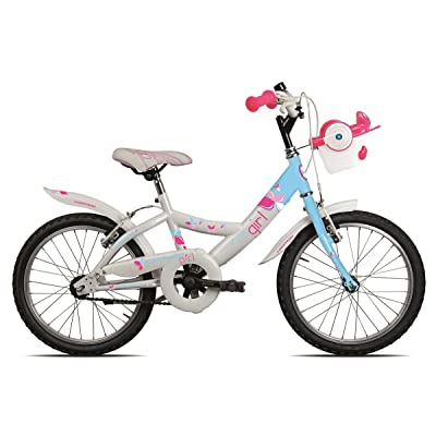 "'Torpado vélo Junior Ketty 18 ""Petite fille 1 V Blanc Bleu (enfant)/Bicycle Junior Ketty 18 Girl 1 V White Light Blue (Kid)"