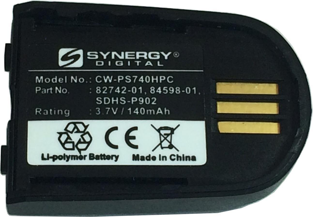 Synergy Digital Headset Battery Compatible For Plantronics W440 Wireless Headset Battery Li-Pol, 3.7 Volt, 140 mAh - Ultra Hi-Capacity - Works With Plantronics 82742-01 Rechargeable Battery by Synergy Digital