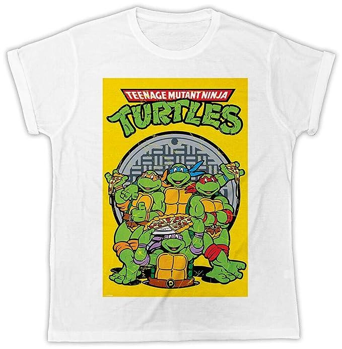 Ksodm Funny Ninja Turtles Poster Movie Pizza Retro Ideal ...