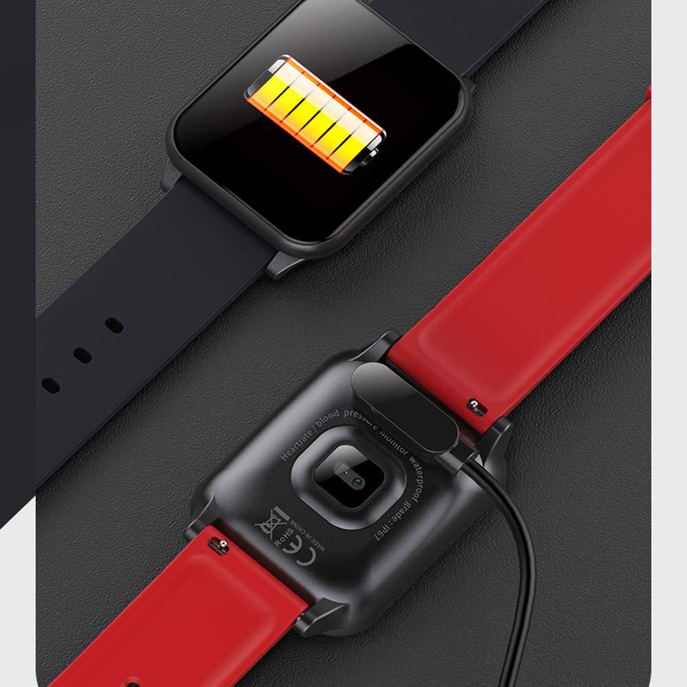 Amazon.com : WTGJZN greentiger Z02 Smart Watch Waterproof reloj inteligente Rate Monitor Fitness Tracker, Blue : Sports & Outdoors