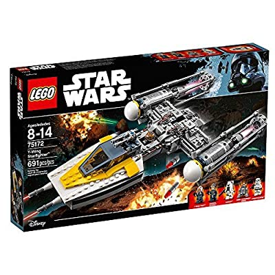LEGO Star Wars Y-Wing Starfighter 75172 Star Wars Toy (691 Pieces): Toys & Games