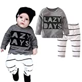 itkidboy Baby Boy Clothes Outfits 2PCS Lazy Days