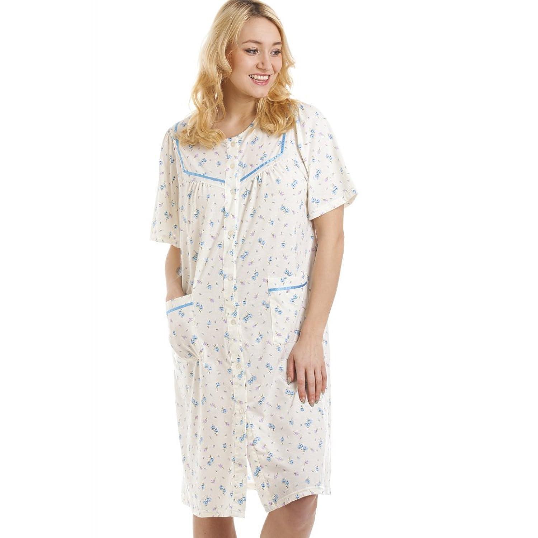 chemise de nuit femme ouverte devant chemise de nuit boutonn e devant manches longues. Black Bedroom Furniture Sets. Home Design Ideas