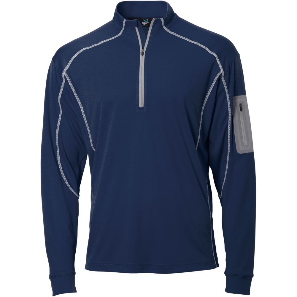 TGW Mens Tour 1/4 Zip Pullover Navy M