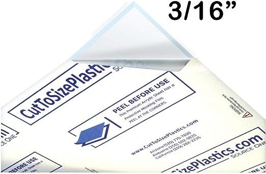 "Lexan Sheet 3//16/"" Clear  12/"" x 8/"""