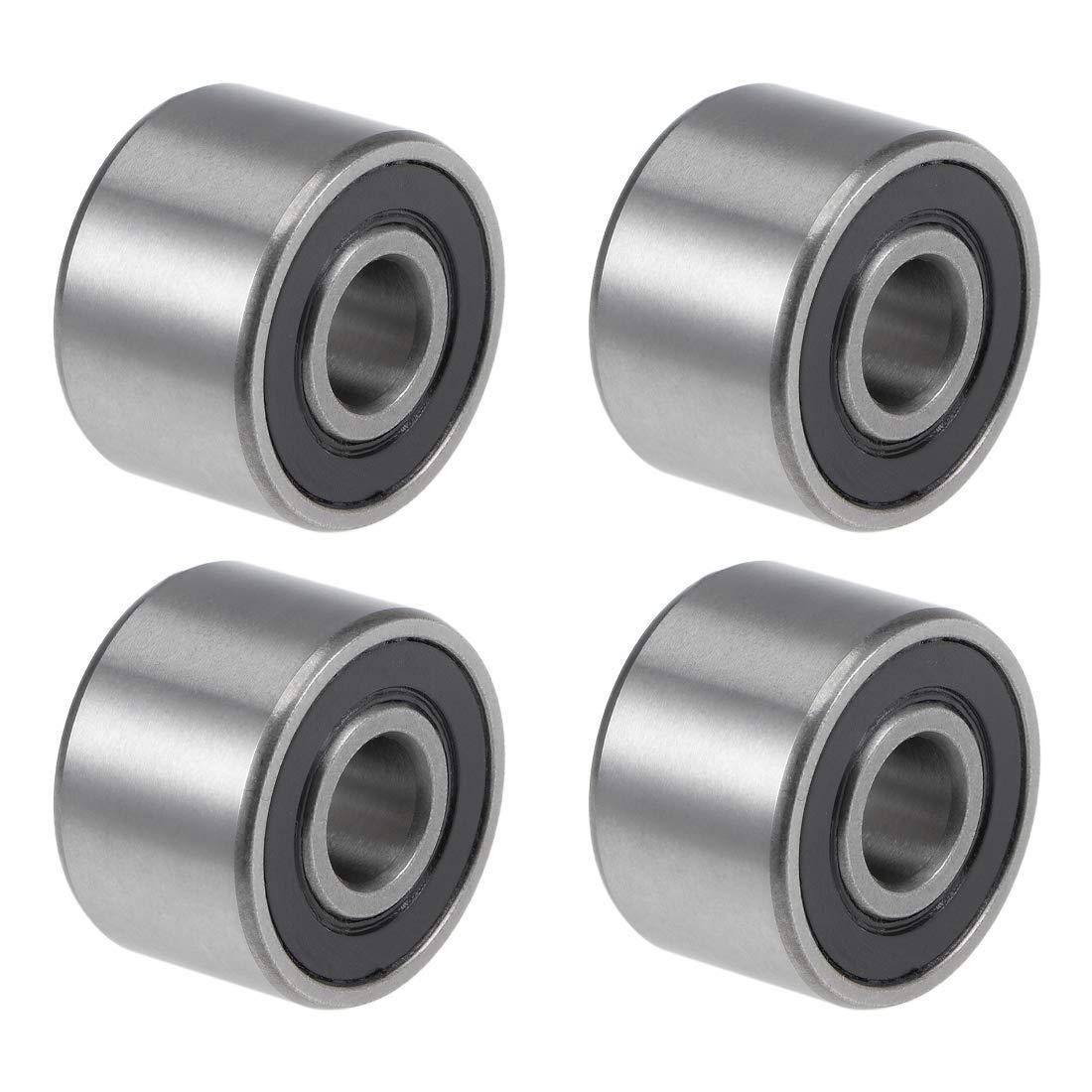 608-14-2RS Deep Groove Ball Bearings 8 mm Internal Diameter 22 mm OD 14 mm Internal Diameter Chrome Steel with Double Seal Z2 4 Pieces