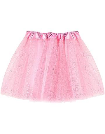 Lazzboy Ragazze tut/ù Tutu Tulle Balletto Gonna Strati Principessa Dress-up Danza Indossare per 2-7 Anni Costume Festa Kids