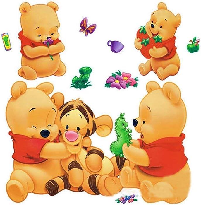 B Winnie The Pooh and Tigger Stick Nursery/Baby Wall Sticker Decal