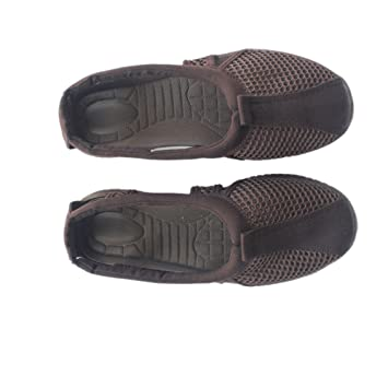 ZooBoo Tai-Chi Arhat Buddhist Schuhe - chinesische buddhistische Kung Fu Tai Chi Wushu Shaolin Qi Gong Training Wing Chun Slipper Sneaker Schuhe mit Gummisohle und Maschen für Männer und Frauen Mg8QD05I
