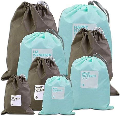 Colorful Sac Sale Sac /à Cordes Organiseurs de Bagage Comius 4 Diff/érentes Tailles 8 PCS Imperm/éable Sacs /à Cordon Sac de Chaussures