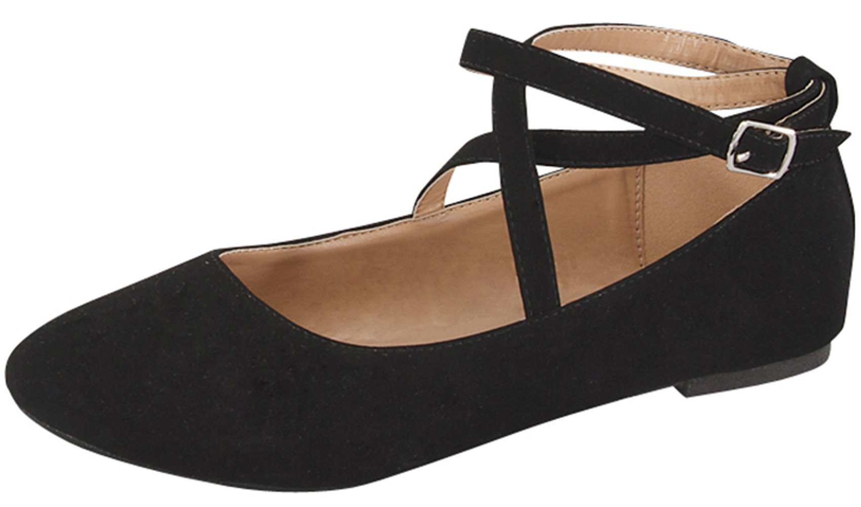 Top Moda Women's Brea-3 Strappy Ballet Flat (8 B(M) US, Black) by Top Moda (Image #1)