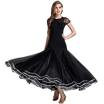 Manga Corta Falda de Baile de Vals para Mujer Vestido Moderno ...