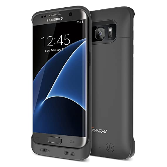Galaxy S7 Edge Battery Case, Trianium Atomic S Pro Charging Battery Pack for Samsung Galaxy S7 Edge 5000mAh Extended Fast Charger [Quick Charge ...