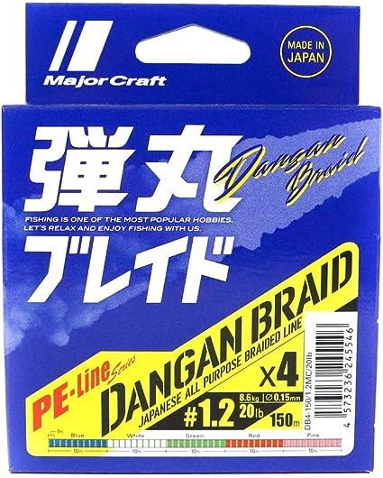 Major Craft Dangan Braided Linie X8 150m P.E 0.5 Pink DBE8-150//0.5PK//12lb 6567