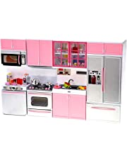 PowerTRC Kids Battery Operated Modern Kitchen Playset Great for Doll Toys