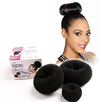Easy Diy Hair Donut Bun Maker Black For Women Girls Kids Chignon Hairstyles 1 Set Small Medium And Large By Bella Hair