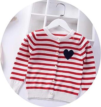Niñas suéter a Rayas de Punto Cardigan otoño niños aman Capa de la ...