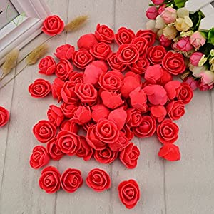 Fake Flower 50 pcs PE Foam Roses Head Artificial Flowers Wedding Decoration DIY Party Festival Home Decor Scrapbooking Gift Box DIY Wreath 88