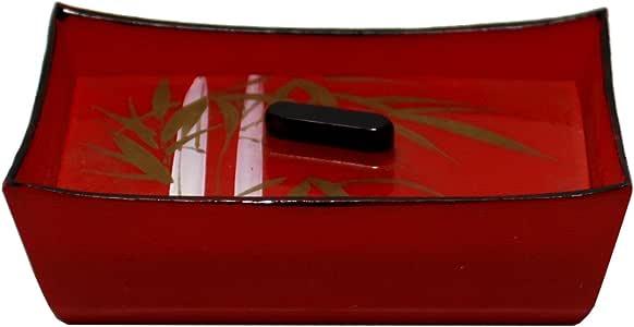 Wan Nan - Caja de cartón lacada, color rojo: Amazon.es: Hogar