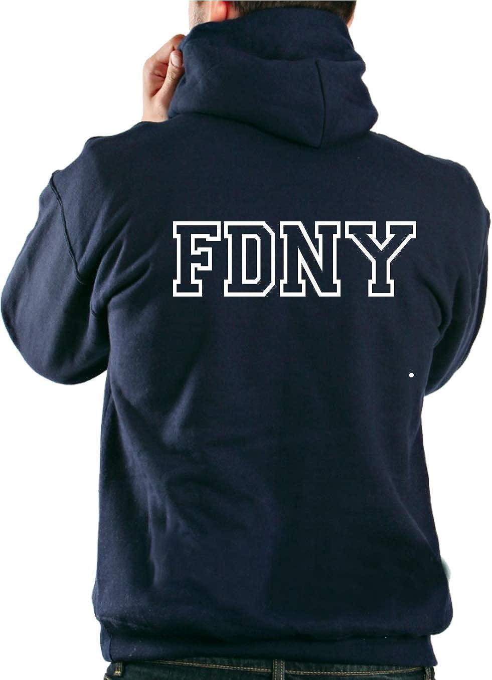 FDNY avec Logo de Poitrine color/é Sweat /à Capuche