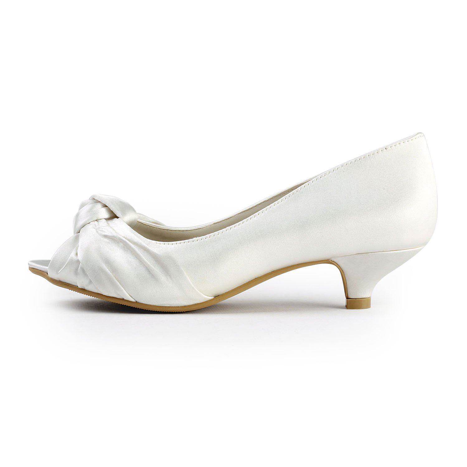 Amazon.com | ElegantPark EP2045 Womenu0027s Peep Toe Low Heel Knot Bridal  Wedding Shoes | Shoes