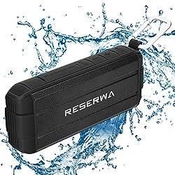 Reserwa Bluetooth Speakers with TWS Pairing Function Full-range Speakers Enhanced Bass V4.2 IP65 Waterproof Wireless Speakers Built-in Mic Portable Speaker for Outdoor Home Shower Beach from Reserwa