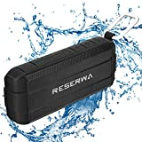 Reserwa Bluetooth Speakers Full-range Speakers with Enhanced Bass V4.2 IP65 Waterproof Wireless Speakers Built-in Mic Portable Speaker for Outdoor Home Shower Beach