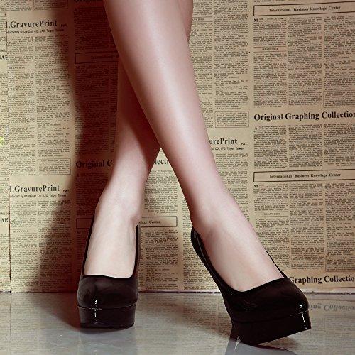Zapatos Dedo La Del Señoras El Strappy Cerrado Ponerse Talón Fiesta Tacón Zapatos Superficial Mujeres De Black Delgado Corte Alto Pie dqEwd7O