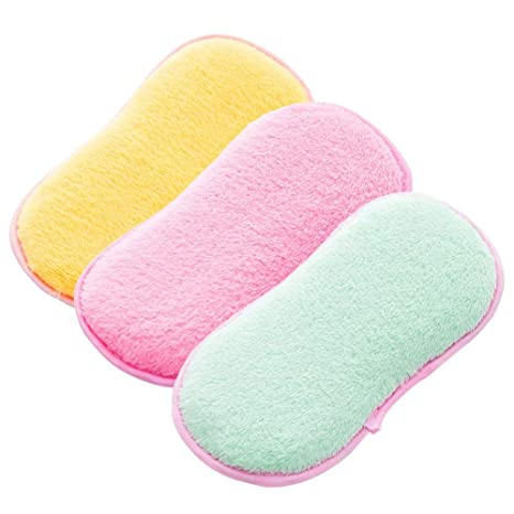 Cepillo de fregado para Platos, sin olores, Antibacterial, esponjas de Doble Esponja para