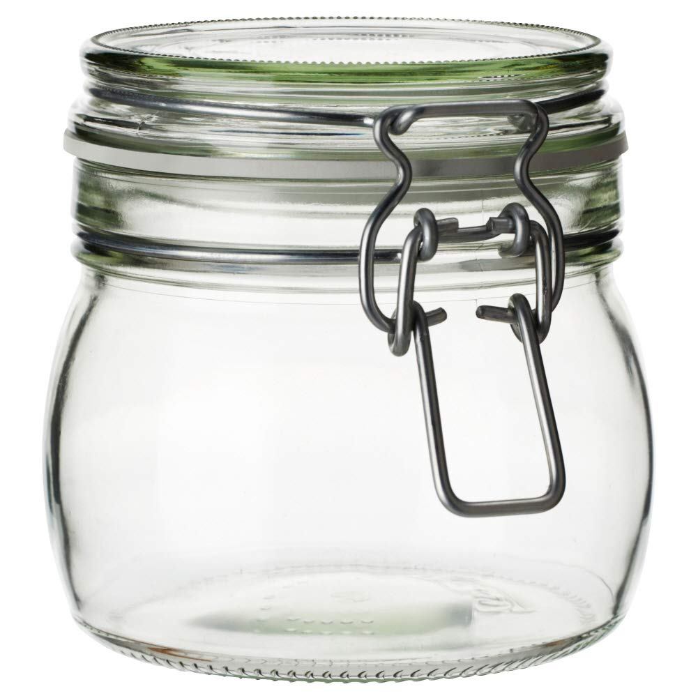 KORKEN - Tarro con tapa (cristal transparente): Amazon.es: Hogar