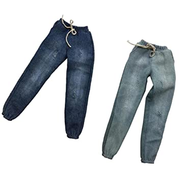 1:6 Casual Pants Trousers Clothing for 12/'/' Hot Toys Phicen Figures 2pcs