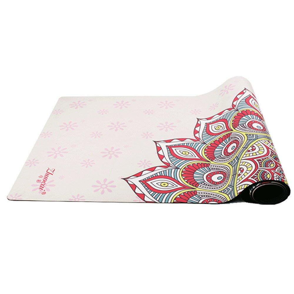 Maybesky Rutschfeste Yogamatte mit Tragegurt Yoga Matte Wildleder 4mm Umweltfreundliche Köstliche Fitness Matte Yoga-Matte Für Gym Familie.