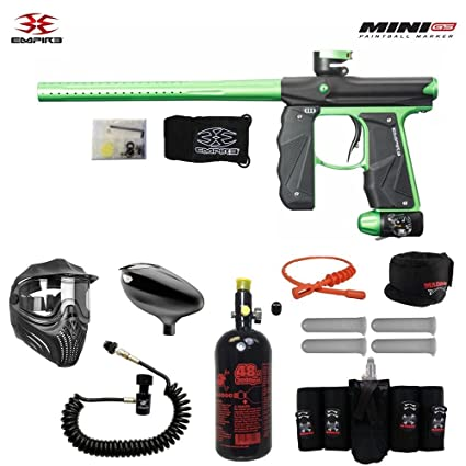 ff2213f568687d MAddog Empire Mini GS Elite Remote HPA Paintball Gun Package - Black/Neon  Green