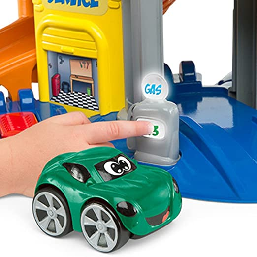 Chicco Turbo Team Stop&Go - Garaje con 2 Coches y 4 Modos de Juego: Amazon.es: Juguetes y juegos