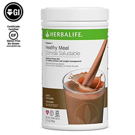 Herbalife Formula 1 Nutritional Shake Mix, Dutch Chocolate, Net Wt. 27.5 OZ.