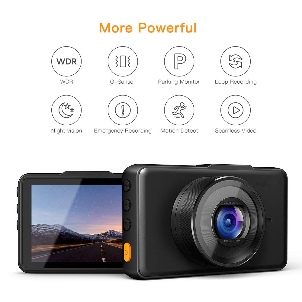 APEMAN-Dash-Cam-1080P-FHD-DVR-Car-Driving-Recorder-3-LCD-Screen-170Wide-Angle-G-Sensor-WDR-Parking-Monitor-Loop-Recording-Motion-Detection
