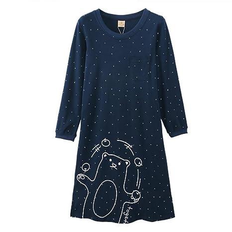 Pijamas de Primavera y Verano nuevos algodón Mujeres Estudiantes ...