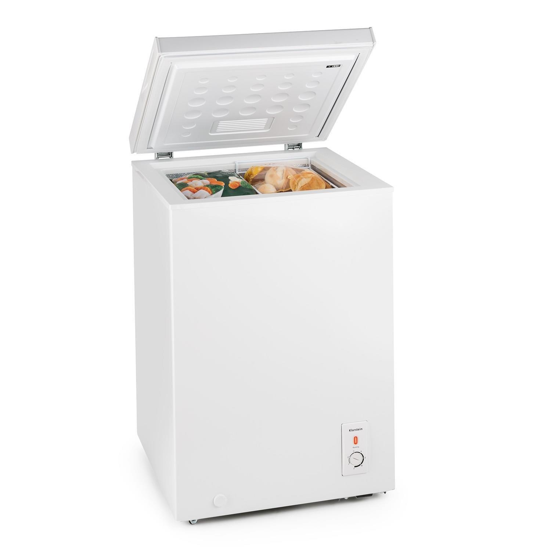 Klarstein Iceblokk • Congélateur • Congélateur compact • Volume de 60 L • Contrôle de température sur 3 niveaux • 42 db • Panier suspendu amovible • Roulettes • Avec grattoir à glace