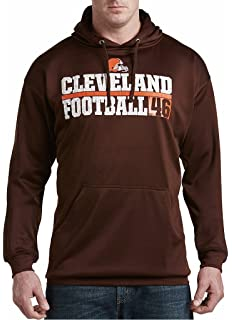 504d75000f9 Majestic Cleveland Browns NFL Mens 1 Handed Catch Synthetic Polyester  Performance Fleece Hoodie Brown Big