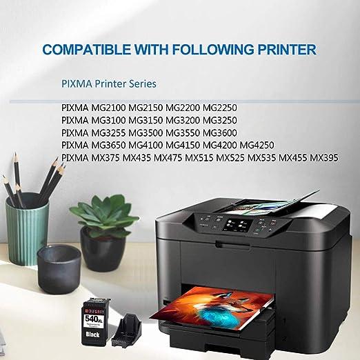 Wolfgray Remanufacturados Canon PG-540XL 540XL Cartuchos de tinta ...